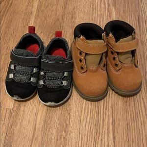 Toddler Size 4 Boots and Sneakers